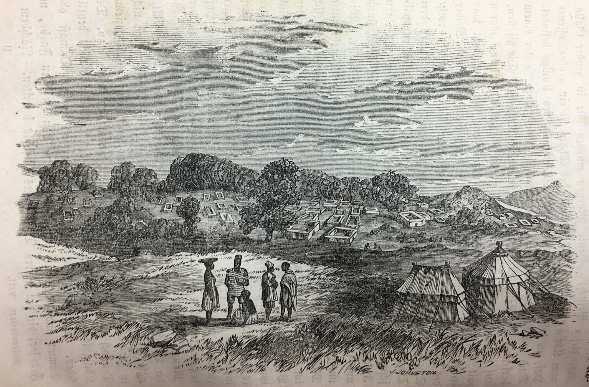This is the city of IléIfẹ̀in the background, the author commented very critically on this illustration.