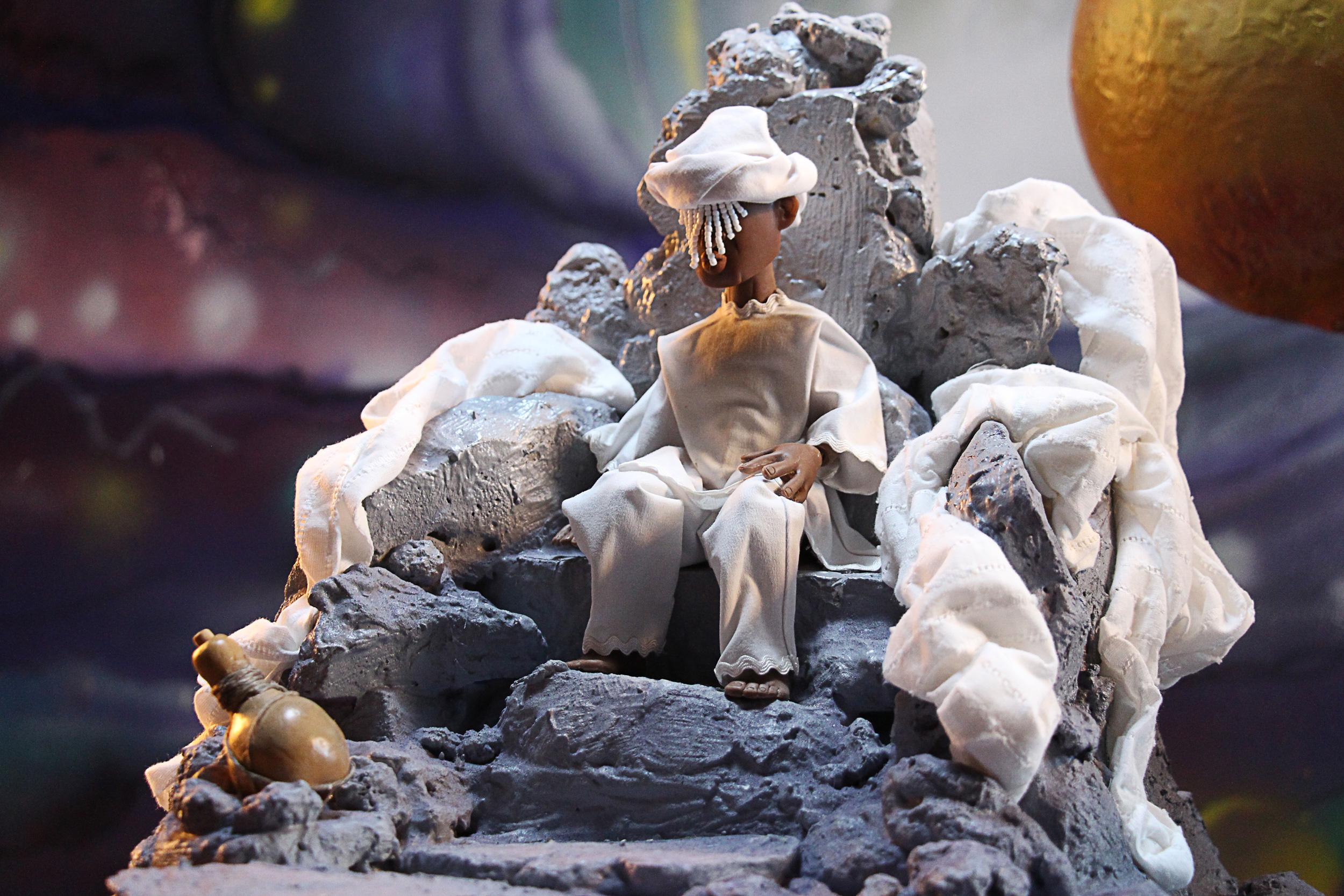 Detail of Olodumaré in heaven. ©Jamile Coelho