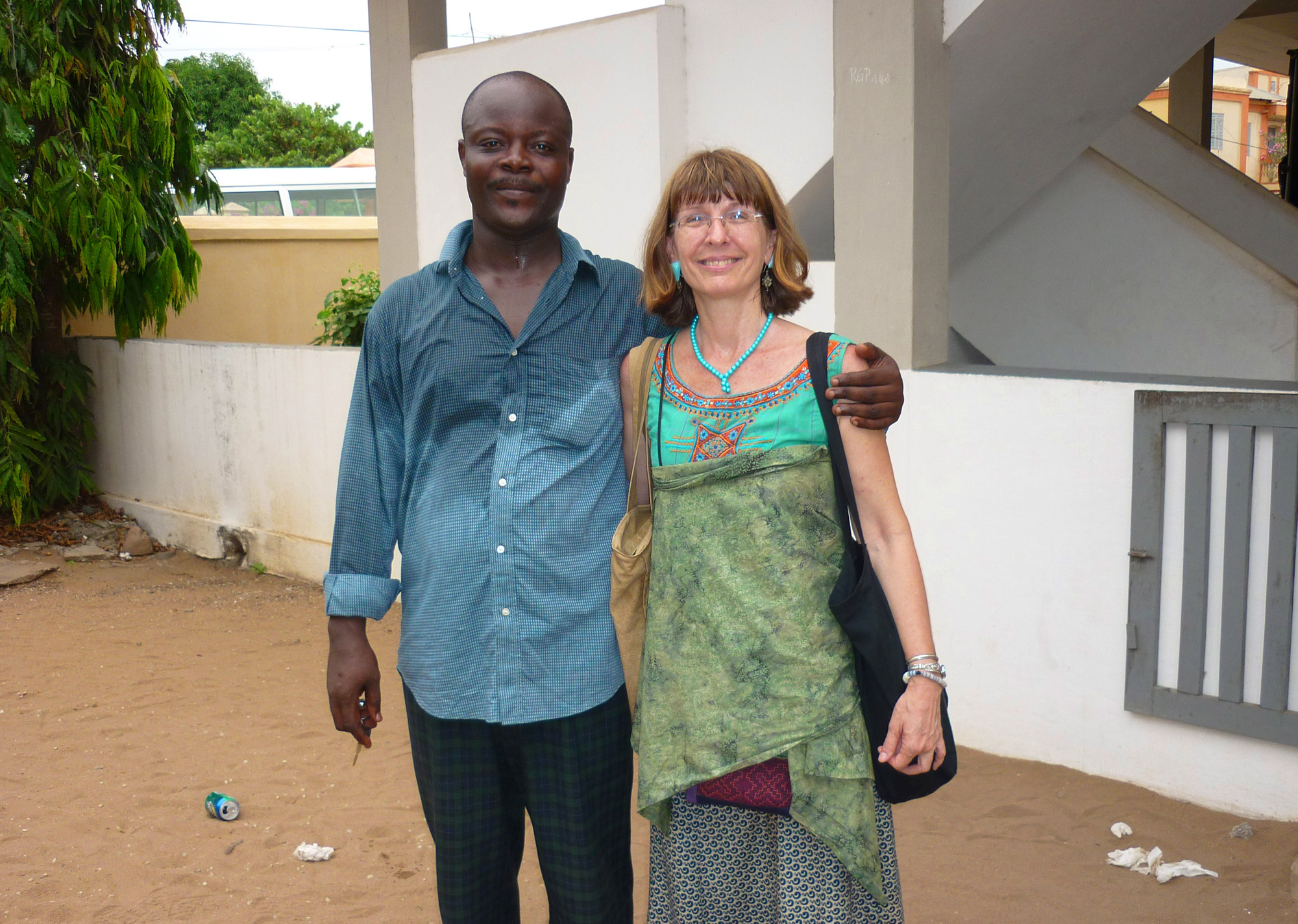 Lisa Earl Castillo with Richard Rufino, during a symposium on Agudá culture and heritage in Agoué in 2014. Richard Rufino, a Shango priest, is the great-great grandson of Nupe freedman Rufino Moreira Serra, who left Bahia in the 1840s. He first went to Lagos but eventually resettled in Agoué, across the street from Yacouba Antonio Pereira dos Santos, a Muslim Nagô who he had known in Bahia. See the freedom letter of Rufino's ancestor below. ©Lisa Earl Castillo