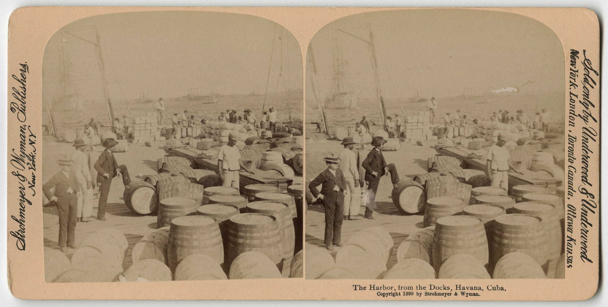 Along the docks of the Havana harbour, 1899. Found in the Cuban Photograph Collection by the  University of Miami Libraries . Image Public Domain.