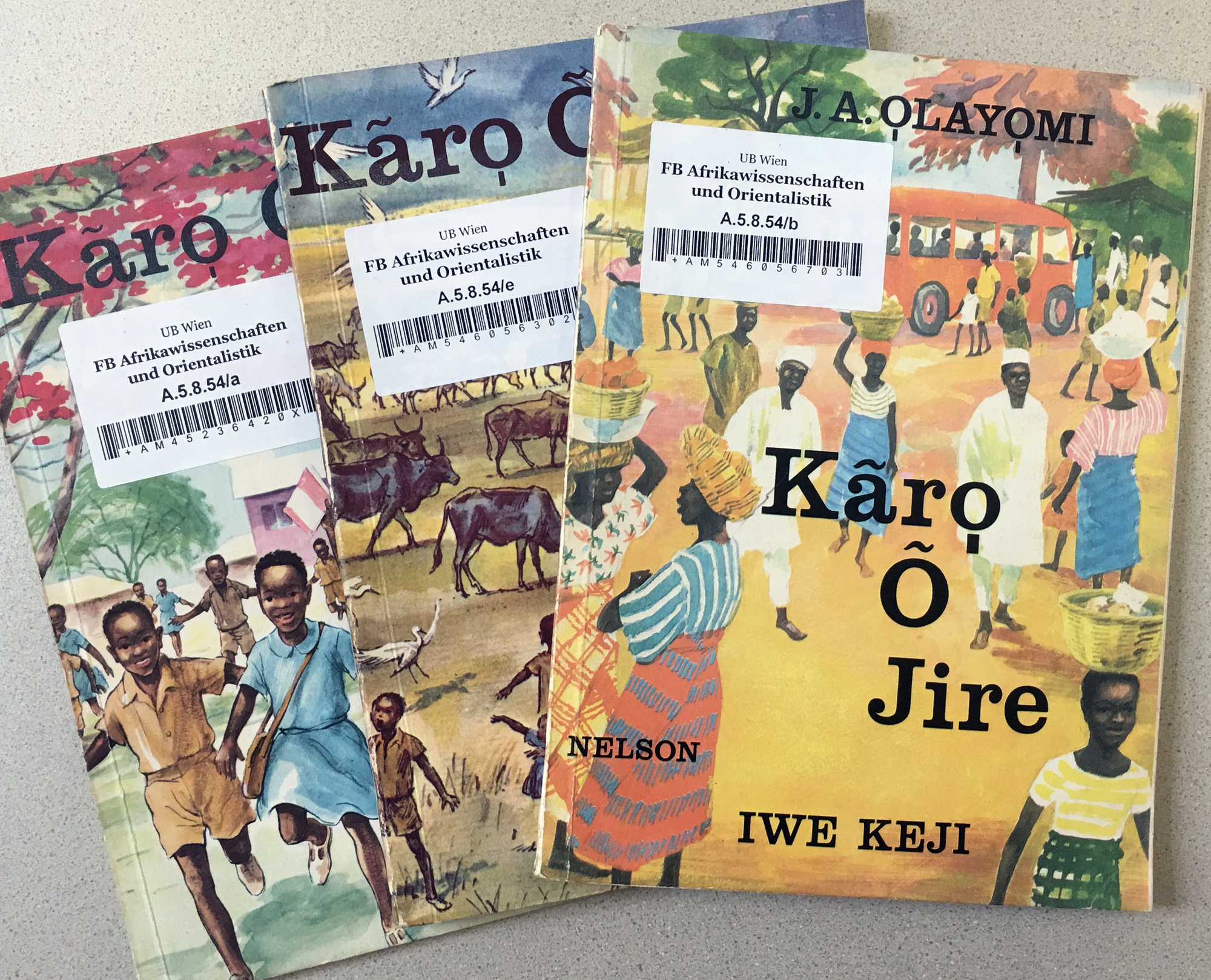 Beautiful books were published in Nigeria a long time ago,language policies were different back in the days. The tilde is not in use anymore. ©Orisha Image