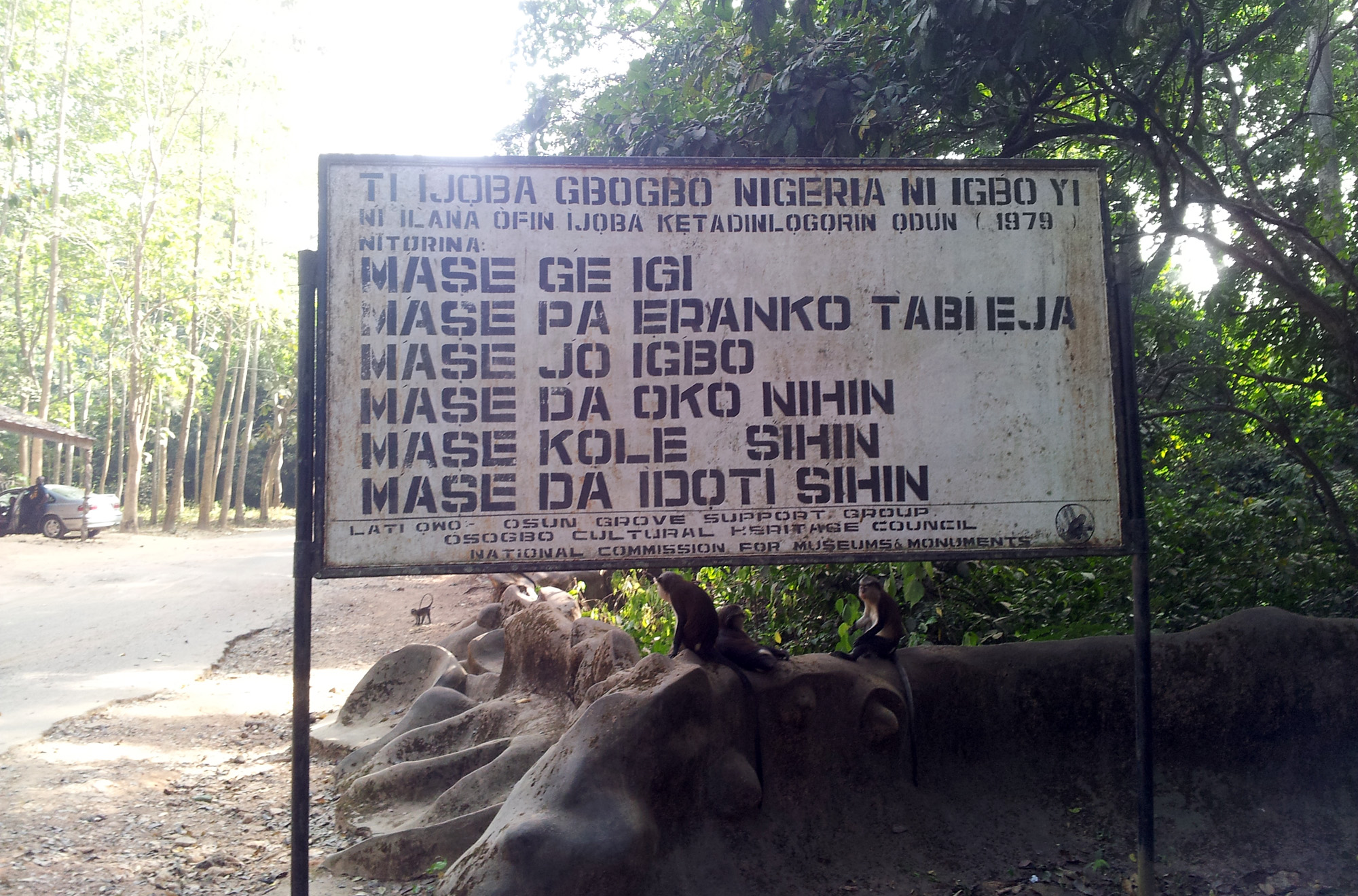 What better not to do in the Sacred Grove of Òṣogbo.©Orisha Image