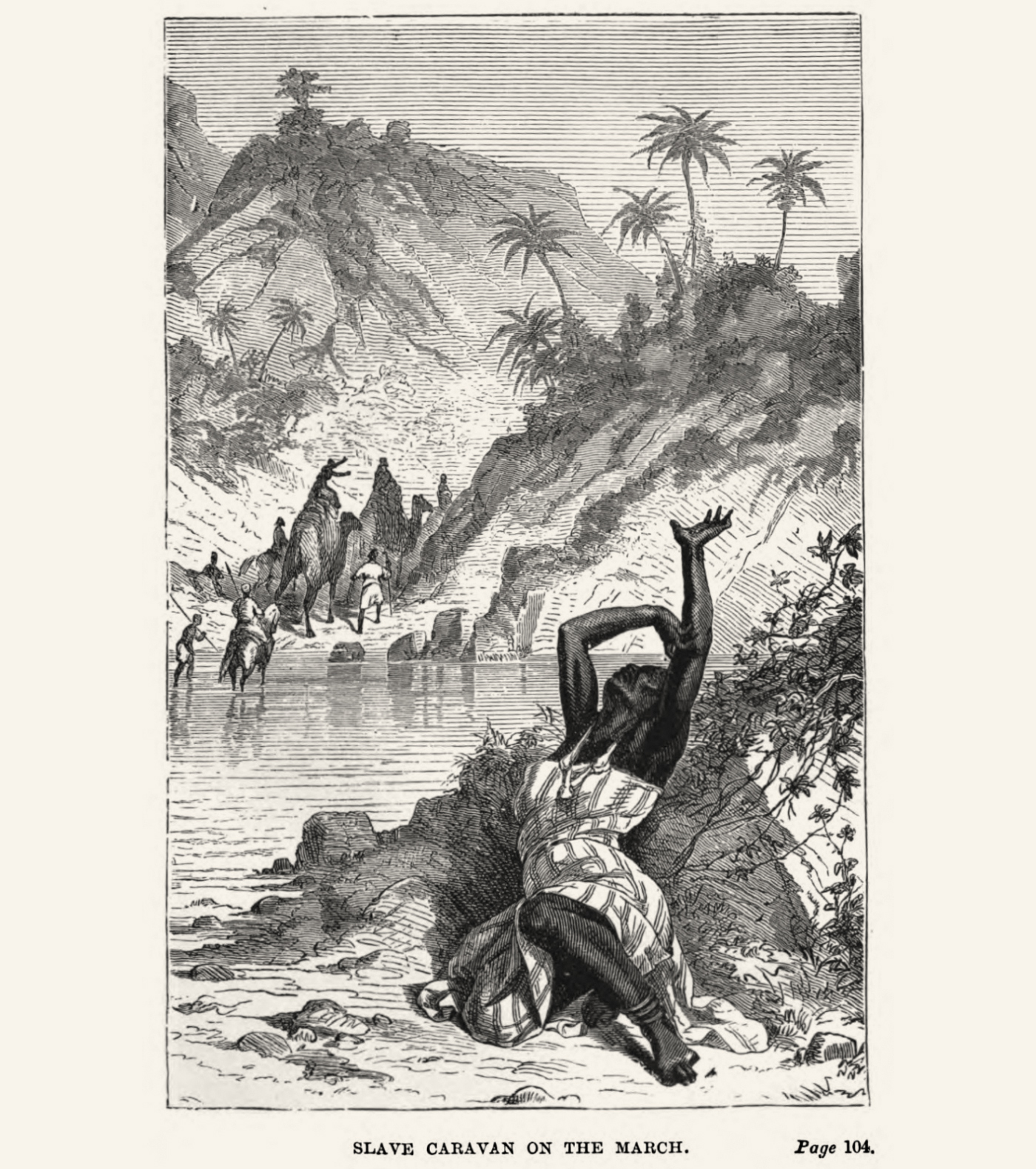An illustration from the book ' 17 years in the Yoruba country ' by Anna Hinderer, wife of a CMS missionary, published around 1860. Image Public Domain.