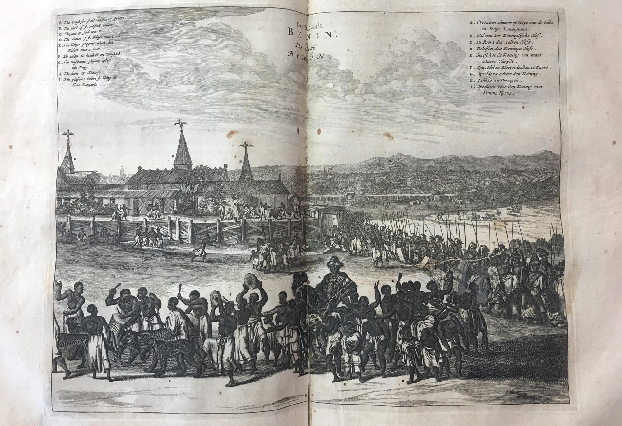 The town of Benin. Illustration from Olfert Dapper, 1670. © Orisha Image