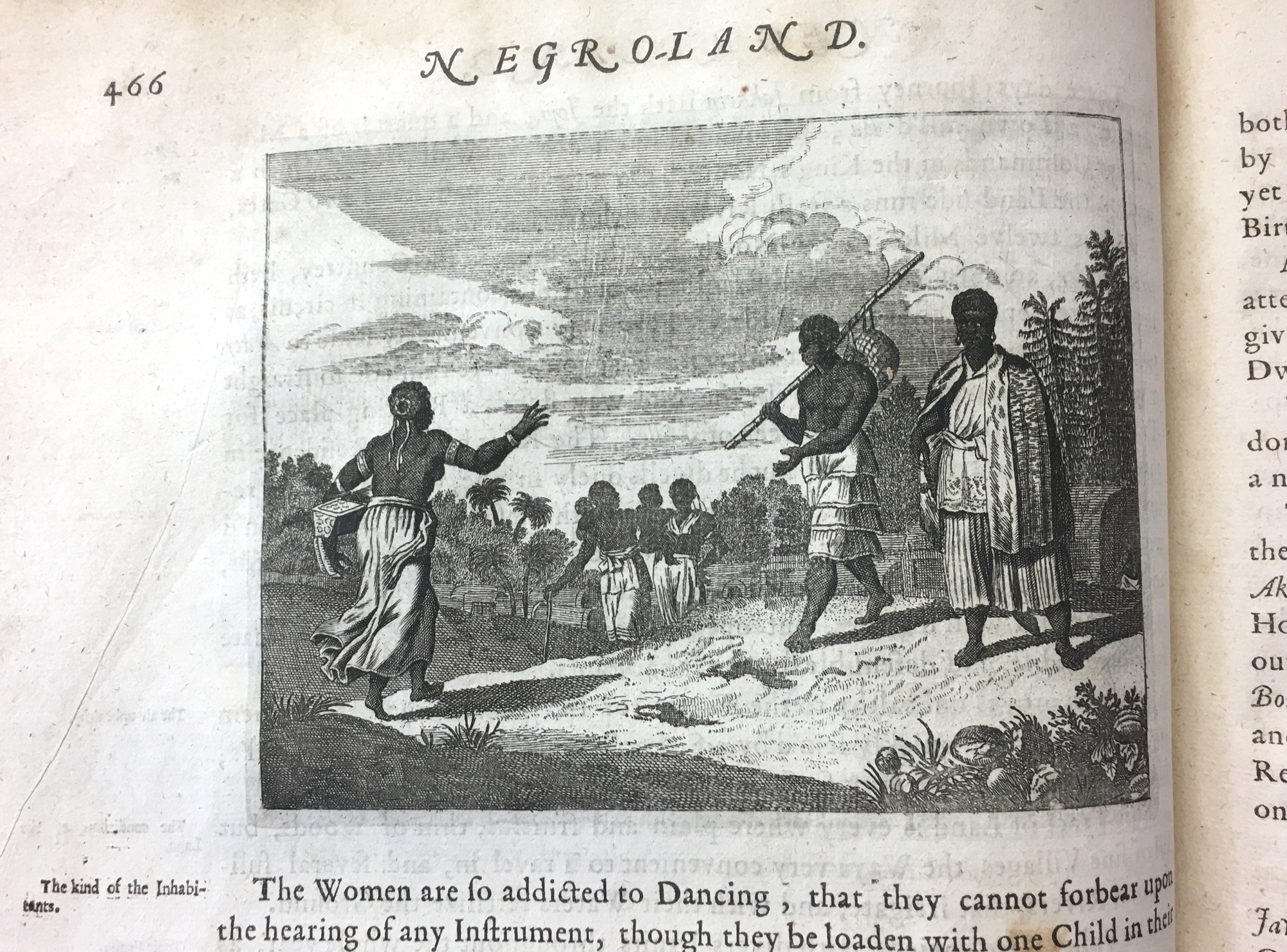 Already in 1670, 'African women were addicted to dancing'. Illustration from Olfert Dapper. © Orisha Image