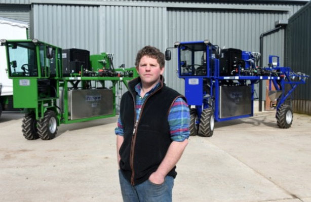 Gillan McDonald with two of the sprayers (source:  www.pressandjournal.co.uk )