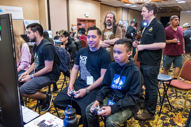 Father and son hype battles all weekend!