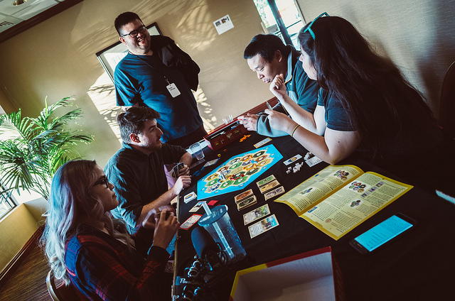 Carolyn Dao ,  Sajam ,  eltrouble  and  Killer Miller  wage indirect war over the island of Catan while  FilipinoMan  watches