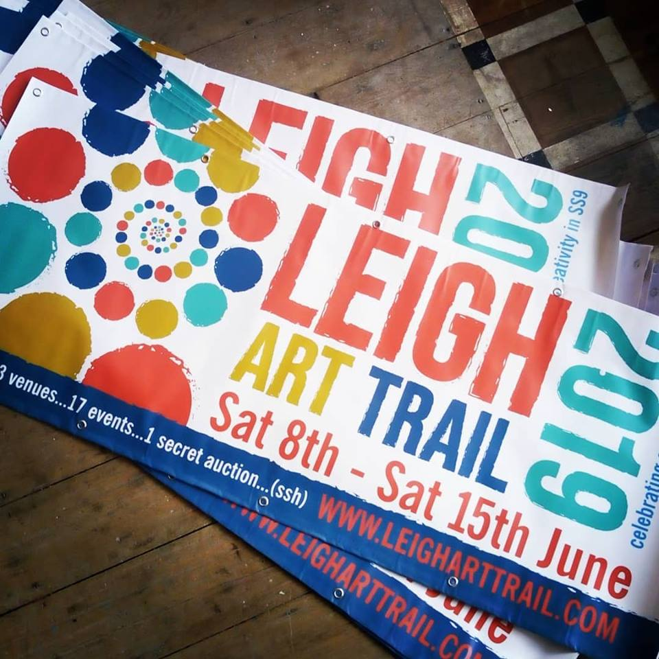 Banners for the Leigh Art Trail will appear from 3rd May 2019
