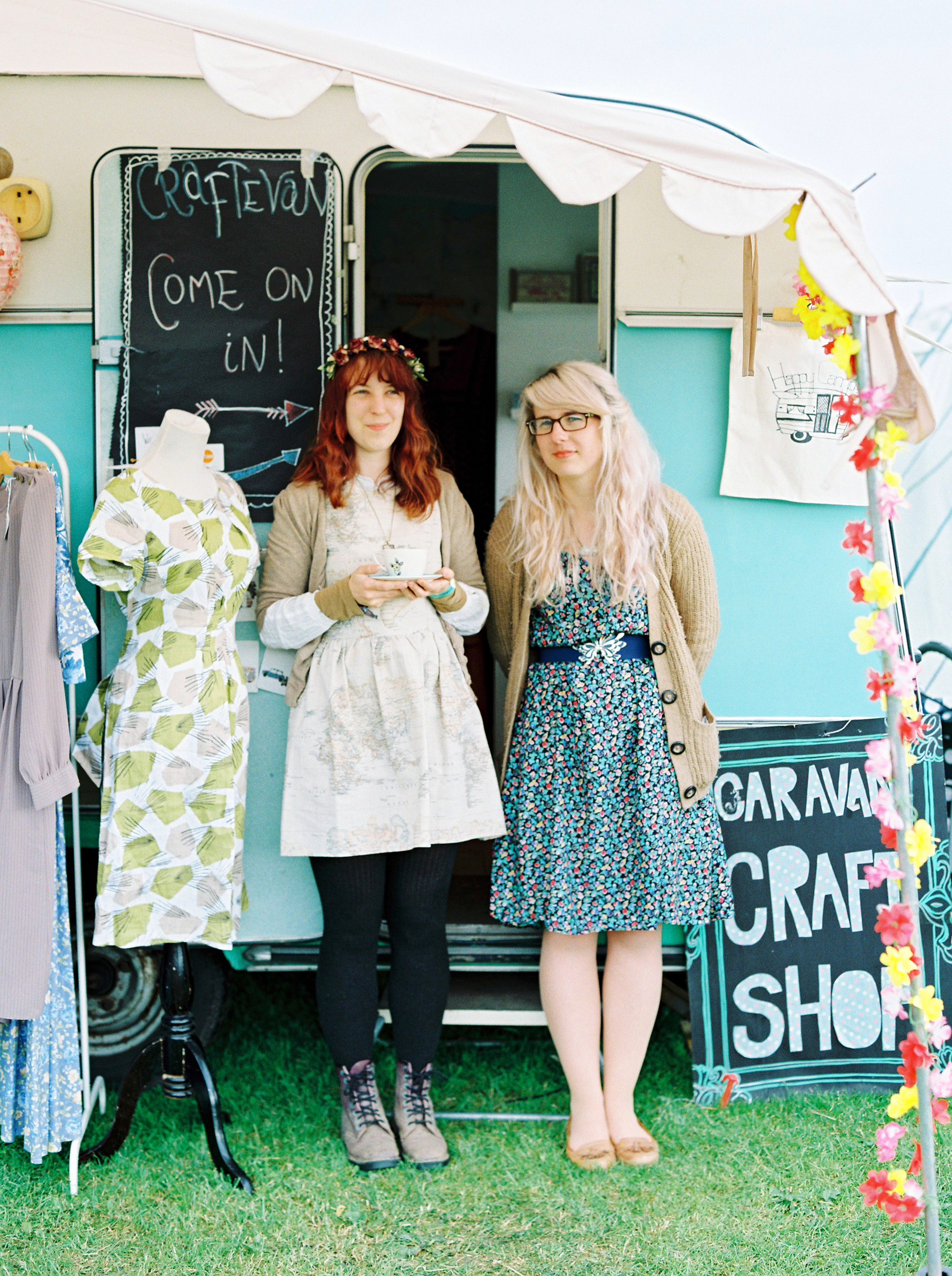 Craftevan | Cumbria - Craftevan is a wonderful, portable space created by the very talented Julie, she is pictured here with the equally talented Kim. Julie takes her van to various festivals around the country to sell her homemade nostalgic travel inspired goods! I really loved the whole vibe so I took these photos because I just couldn't not!