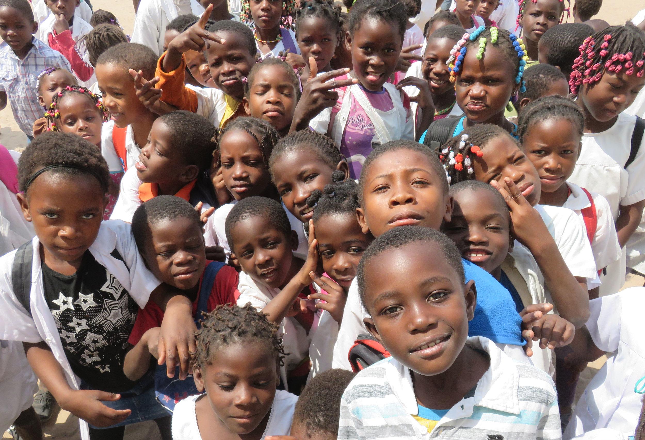 Children in Ondjiva, Angola.