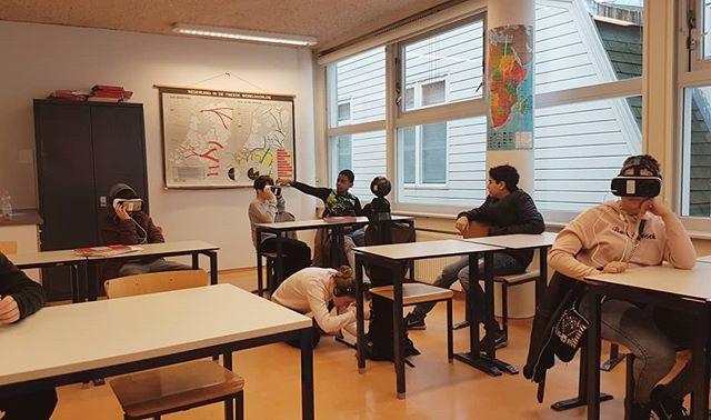 School of VR #virtualreality #360 #vr #video #school #set #amsterdam #instadaily