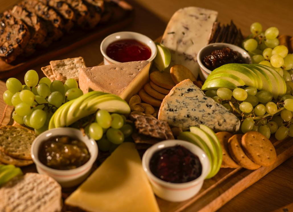 Norwegian Cheese Board with Freshly Baked Scandinavian Rye