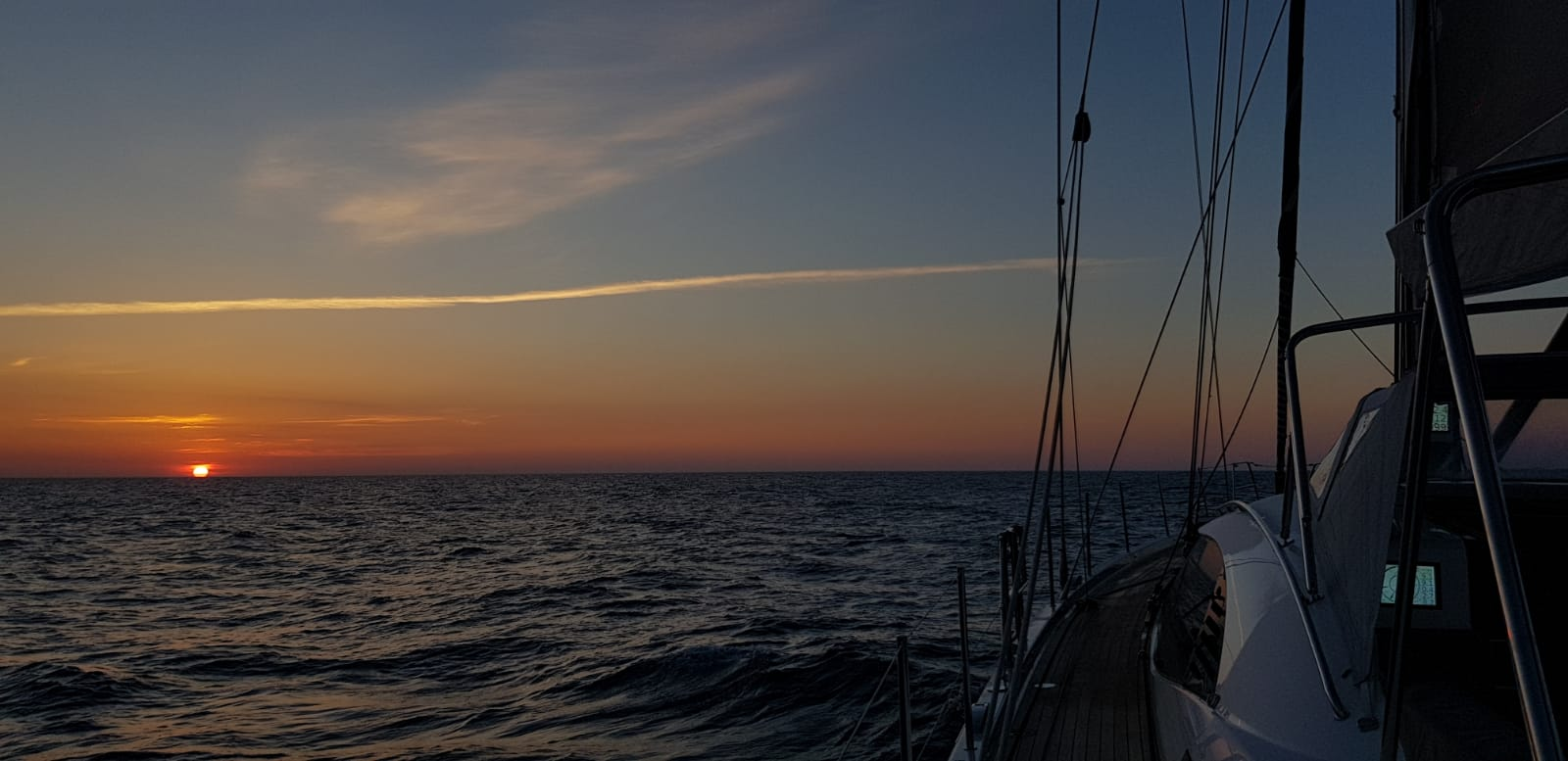 Sunset on route to Montenegro