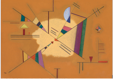 Wassily Kandinsky, DIAGONALE, 1930, oil on cardboard, 19 1/4 by 27 5/8 in. Signed with the monogram and dated 30 (lower left); titled, numbered 'No 5 ii  and dated 1930 on the reverse