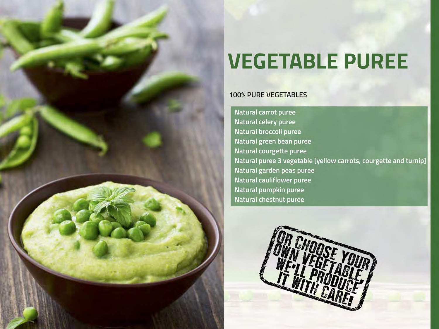 Frozen Vegetable Puree