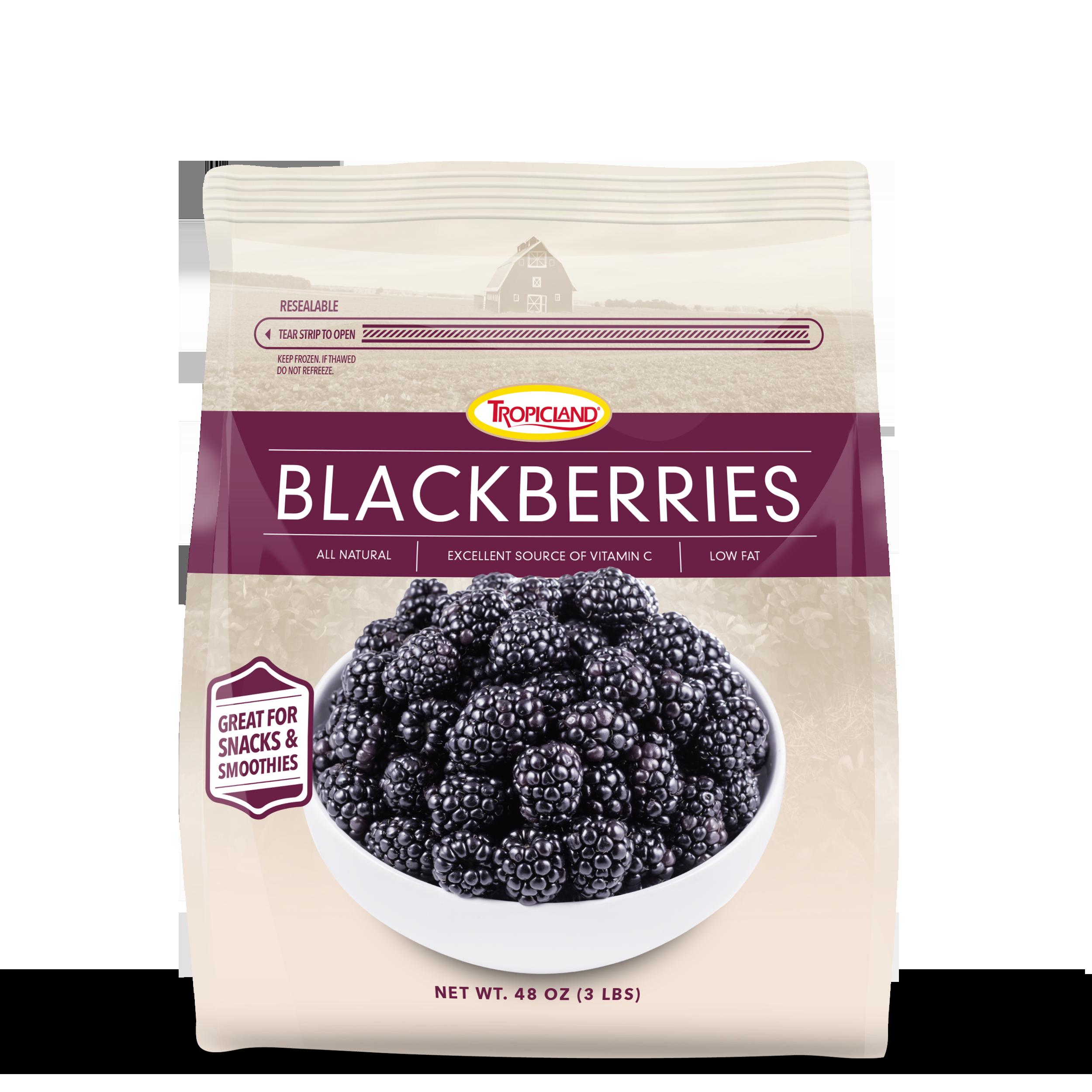 Bag of frozen blackberries