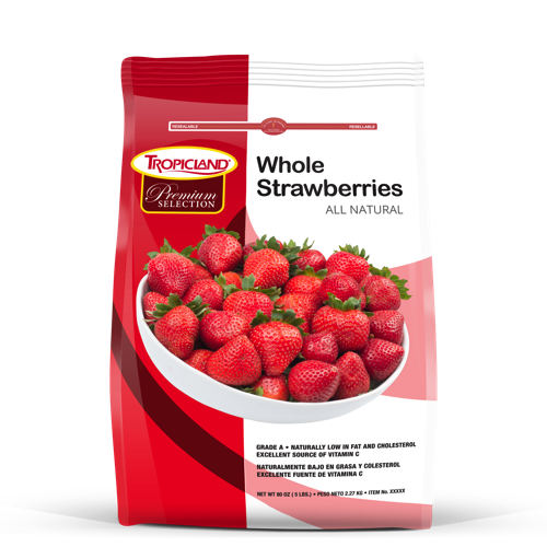 Frozen All Natural Whole Strawberries