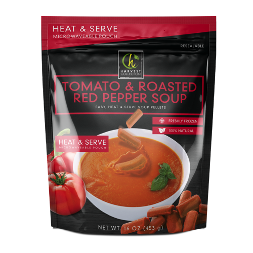 Tomato and Roasted Red Pepper Soup Individual Servings Frozen