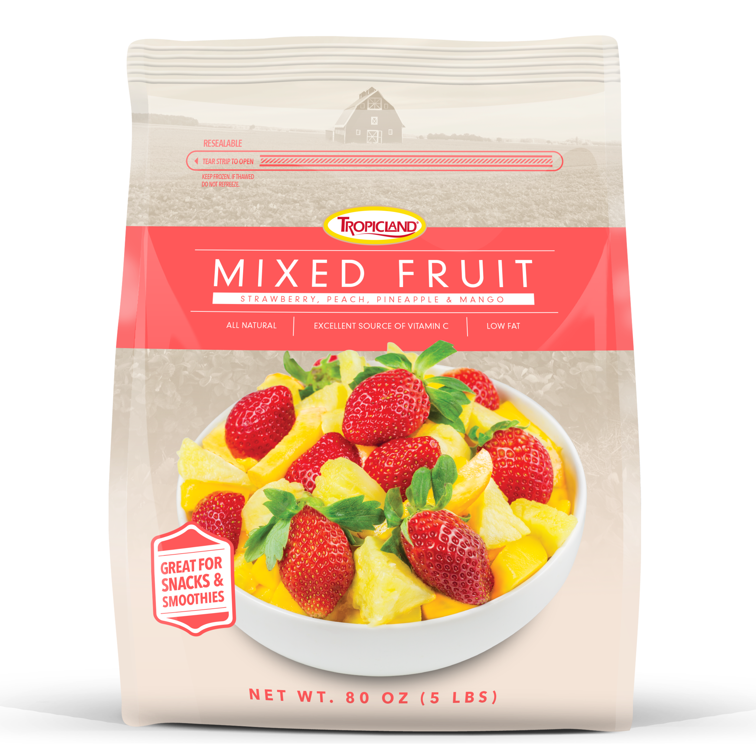 Mixed Fruit with Your Label
