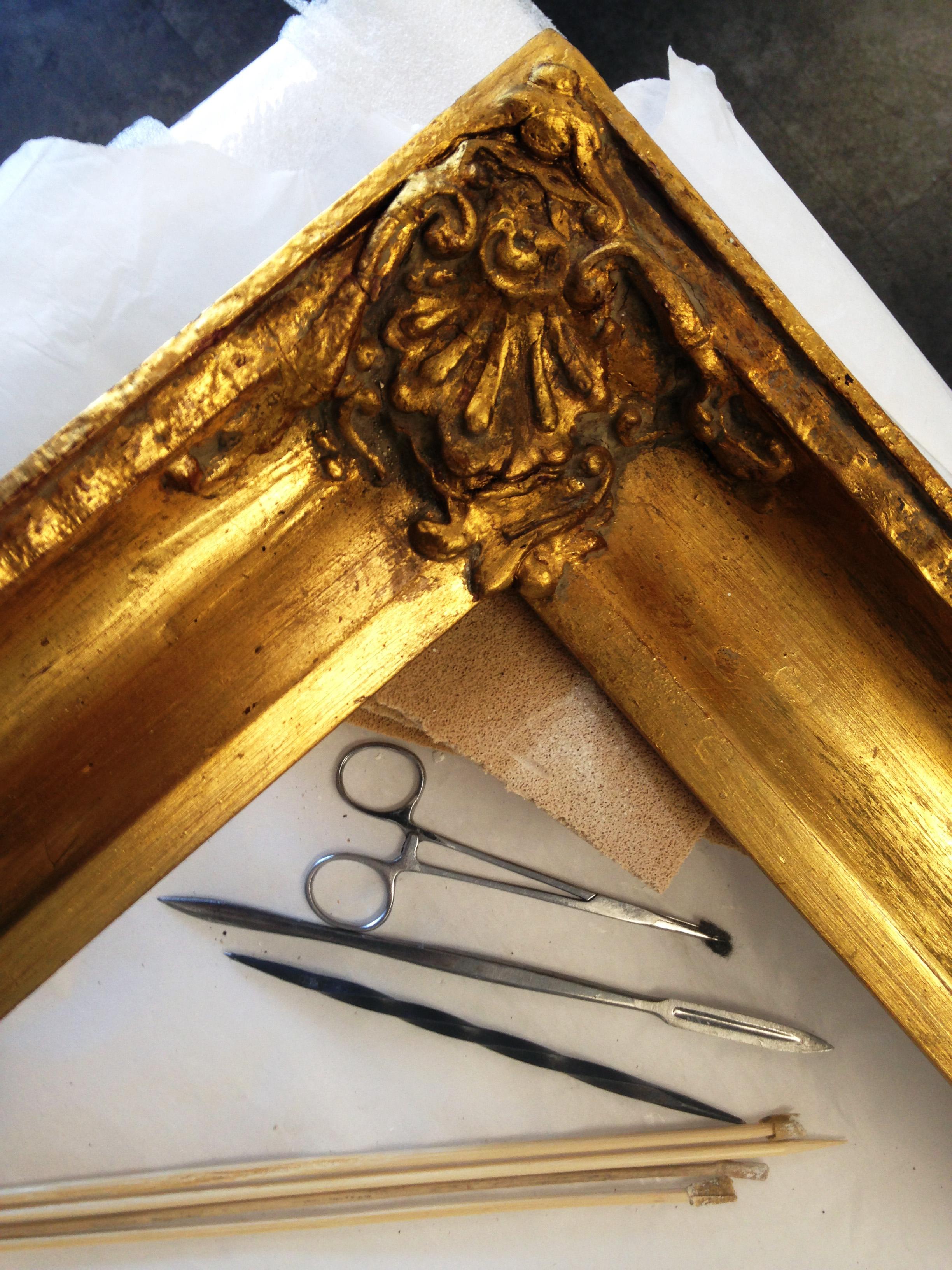 antique frame restoration and gilding