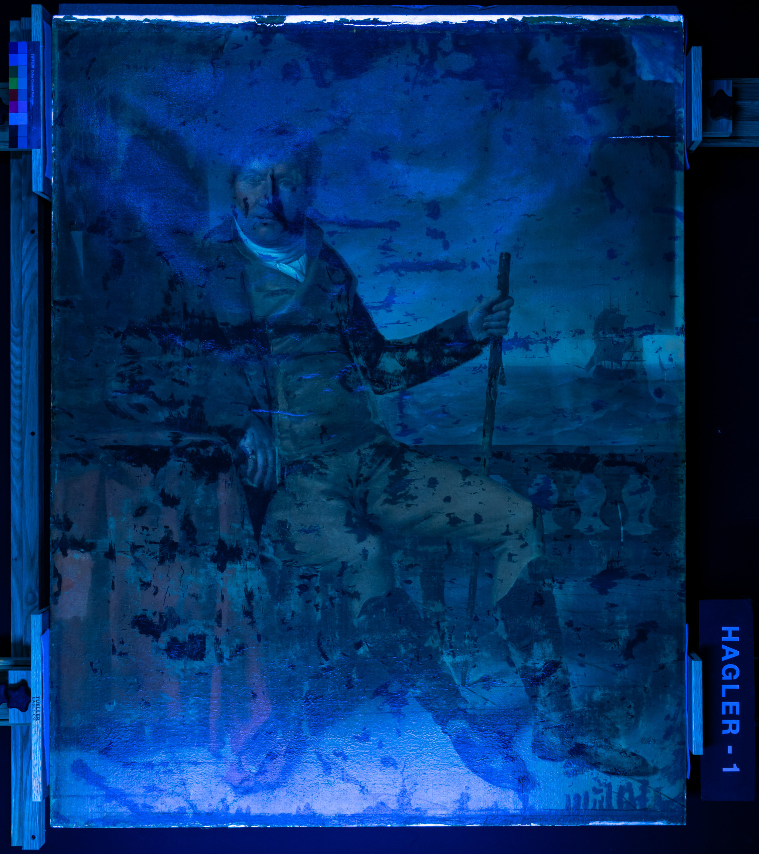 Portrait of Edward Church  under UV light