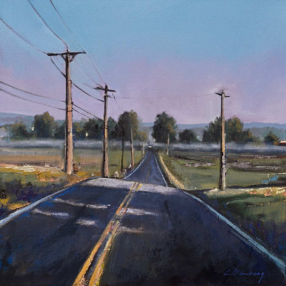 "Roadtrip . oil on canvas . 20"" x 20"" . $2400"