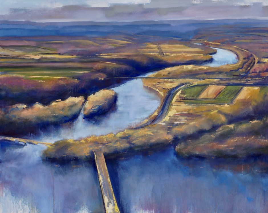 "Confluence . oil on canvas . 48"" x 60"" . SOLD"