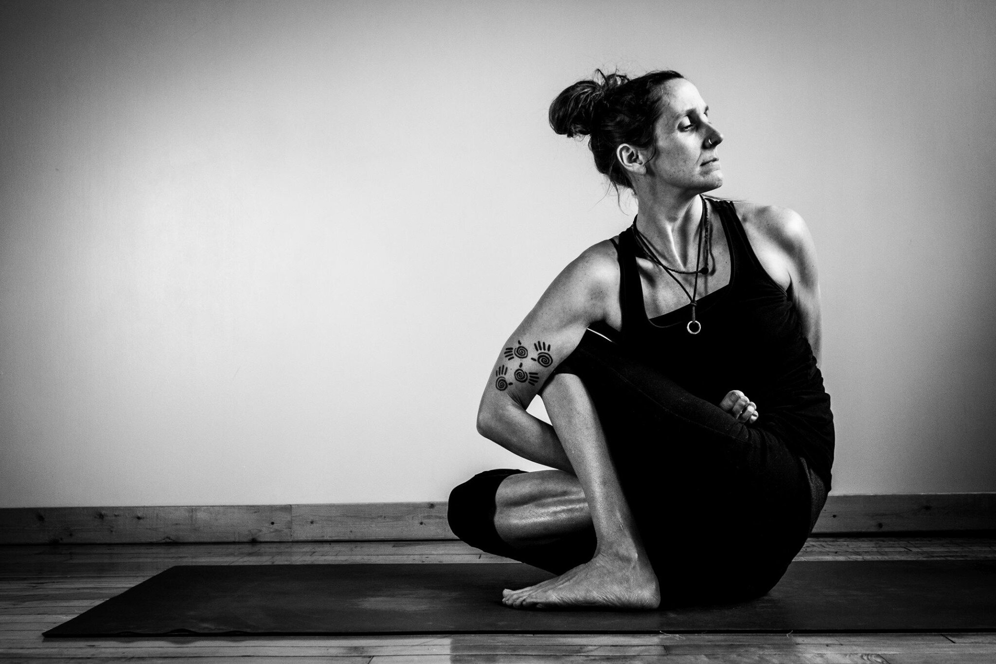 The Teacher - I began practising yoga in 2006 and immediately fell in love with the feeling of calm, peace, and just being at home within myself that it brought. As a mother of 4, it has become a way to drop in and reconnect with myself. Observing the changes, both mentally and physically, on and off the mat, I knew I was ready to go deeper with my practice. I completed my YTT200 in 2008 at 5 Elements Yoga and Pilates in Brampton with Michelle Cormack. I discovered Yin Yoga in 2009 and was right away intrigued by it's lineage and healing elements that were drawn from the practice of Chinese medicine. The quieter, slower pace brought a great balance to my yang practice, and life. Over the years, I have continued learning through various teachers, mostly following the Ashtanga and Yin lineages. Every teacher has brought a new element to my practice, and I am grateful for each of them. In 2015 I complete my SUP Yoga teacher training with Stand Up Paddle Vancouver. This practice taught me the importance of being present and truly in my body. With the added element of fun. Since 2016, I have had the privilege and honour to teach along side my first teacher, Michelle Cormack, sharing her 200 YTT curriculum, taking people to the next level of their practice. Yoga is a constant journey of self discovery and growth. As I continue to learn and grow within my own practice, it is my intention to share and help others with theirs.