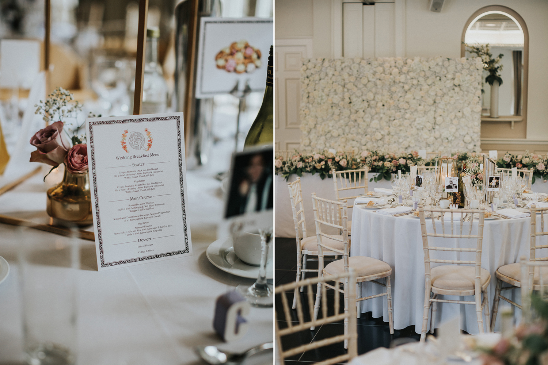 The Orangery Maidstone Wedding Details Set Up