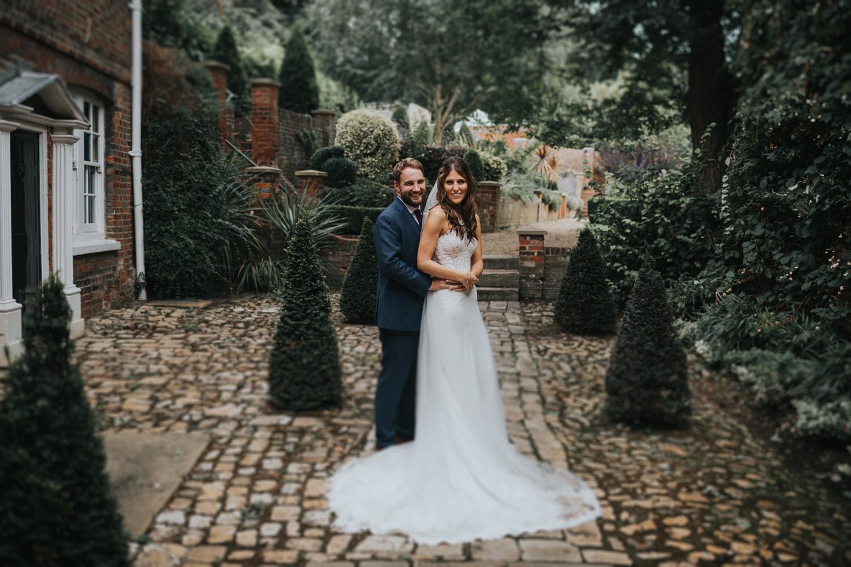 The Orangery Maidstone Wedding Couple Photos Courtyard