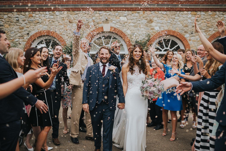 The Orangery Maidstone Confetti Shot Photos