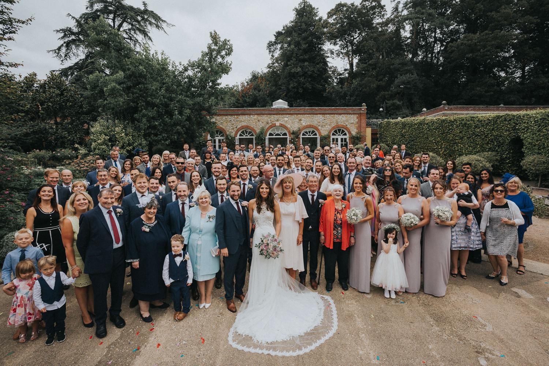 The Orangery Maidstone Wedding Photography Whole Group Shot