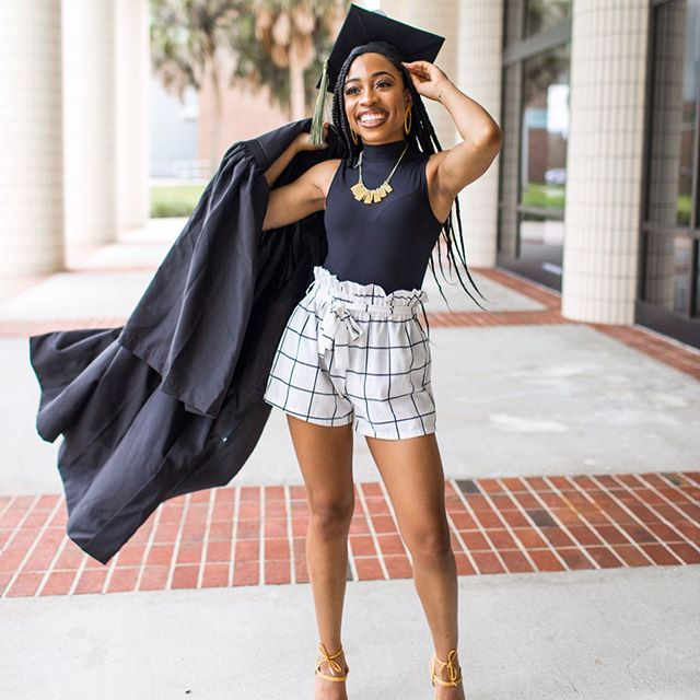 Today was a double! We braved the Florida weather and got amazing shots. 🤩🥳 5 more days till graduation! • • #ucfknights #ucf #ucfgrad #gradshoot #alumknight #chargeon #ucfgraduation #ucfgraduationphotos #ucfgradphotographer #blackgirlsgraduate #orlando #portraitsofcolor