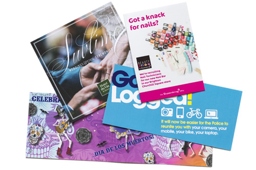 LEAFLETS, FLYERS  & BROCHURES   From luxe quality promotional material in small quantities to economical long runs.