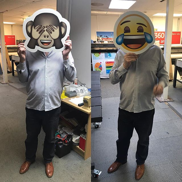 When the boss won't quite monkeying around! #emoji #foamboard #photoboothprops