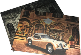 The classic car collection looking stunning on brushed aluminium #efivutek #flatbedprinter #exhibition