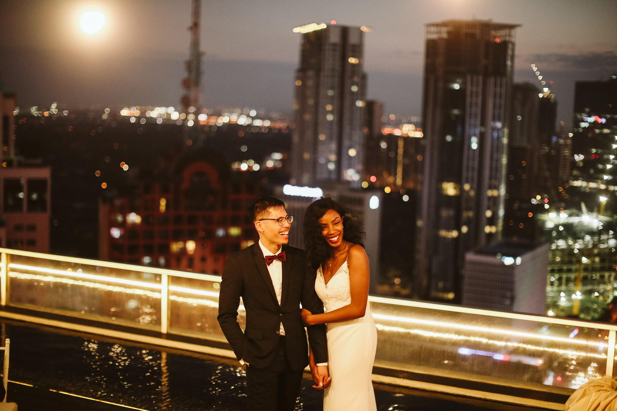 Dennis & Toni | An Romantic Intimate Rooftop Wedding