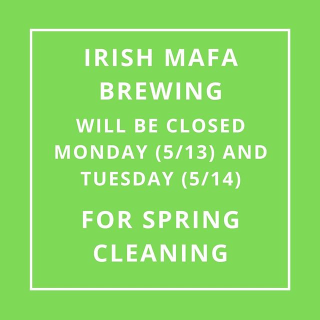 We have some kitchen upgrades and spring cleaning to attend to. We apologize for any inconvenience.