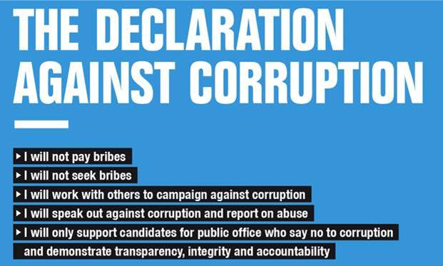 anti-corruption declaration