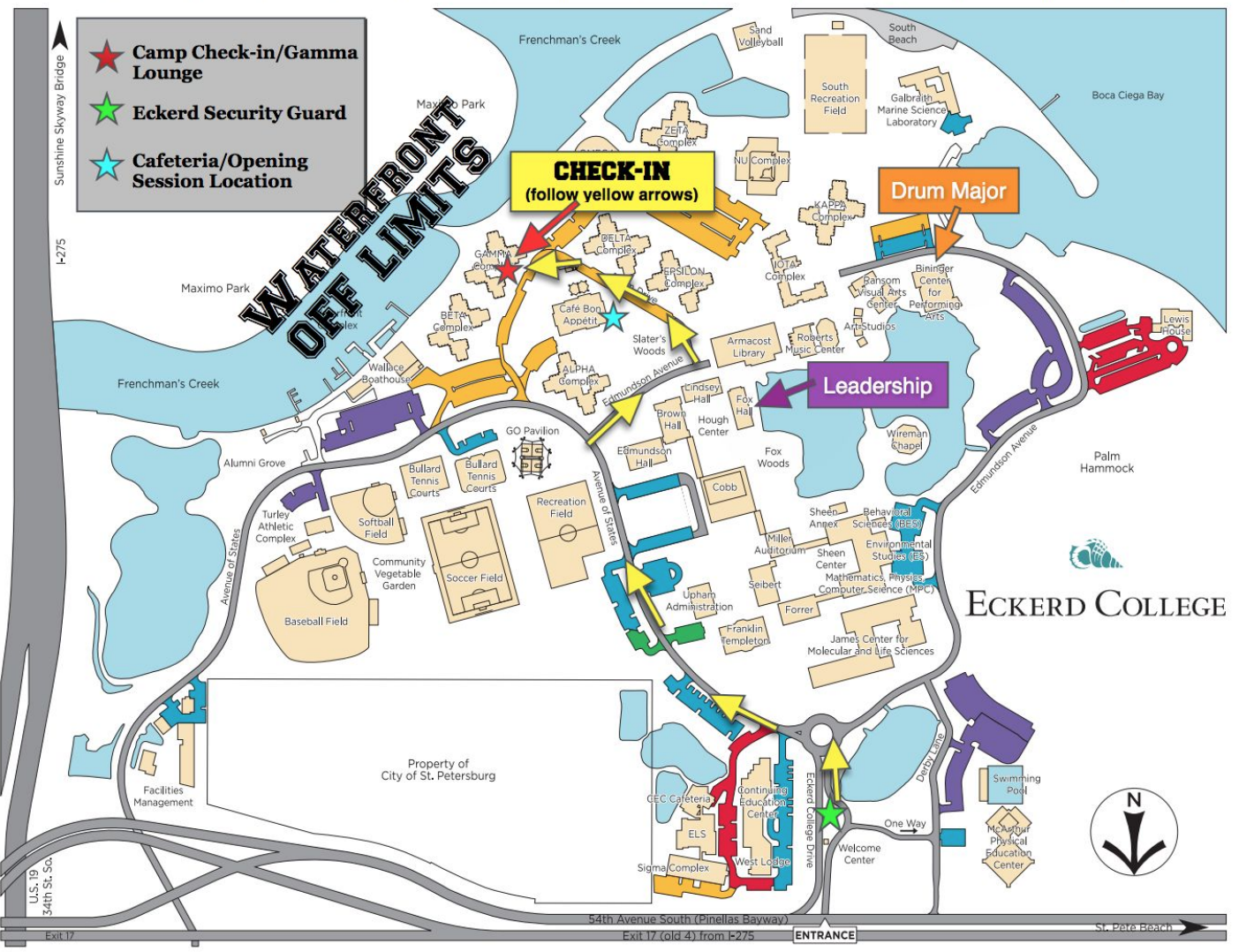 eckerd college campus map Reminders Penny S Camp eckerd college campus map