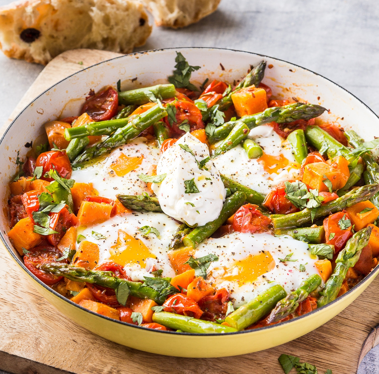 Asparagus, sweet potato and tomato egg chakchouka.jpg