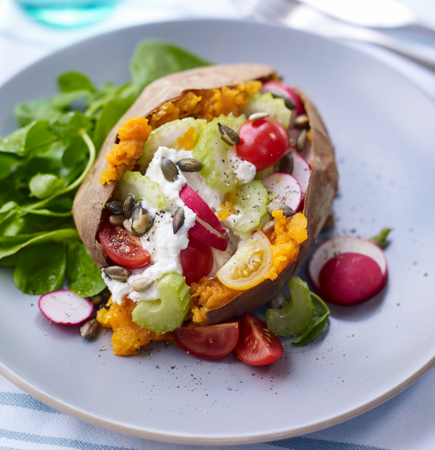 Loaded Sweet Potato with Celery, Radish & Ricotta.jpg