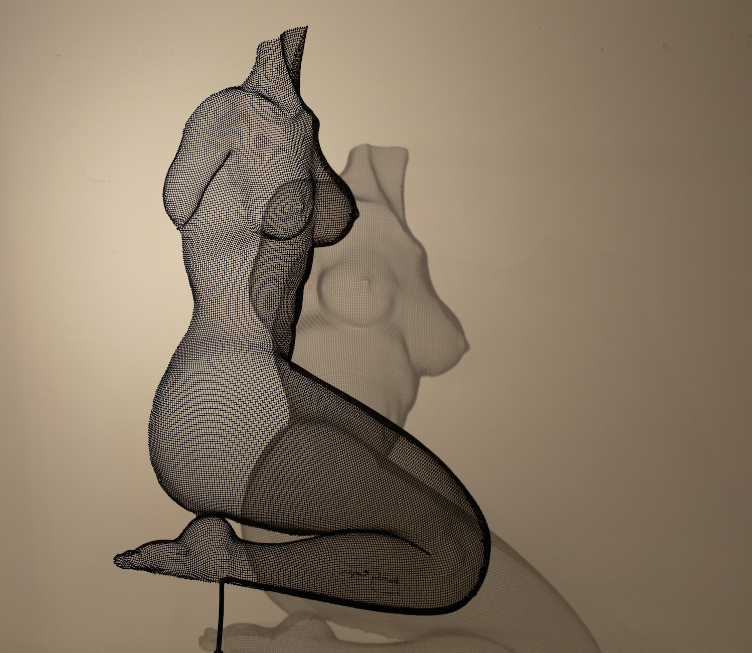 """The Magic... - He began creating intriguing and magical sculptures in wire mesh and has developed all of the techniques that he uses in making his """"Shadow Sculptures"""" on his own."""