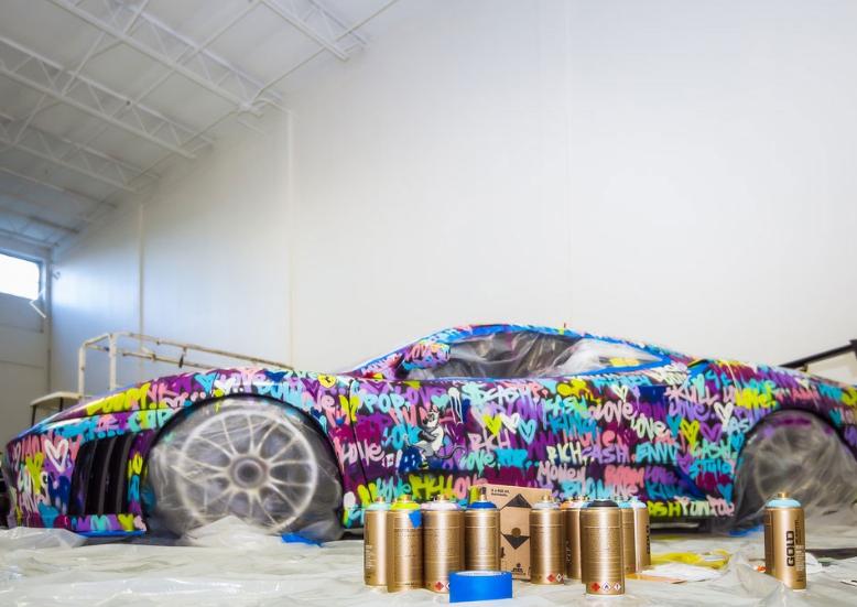 When Street Art jumps in the world of Ferrari.