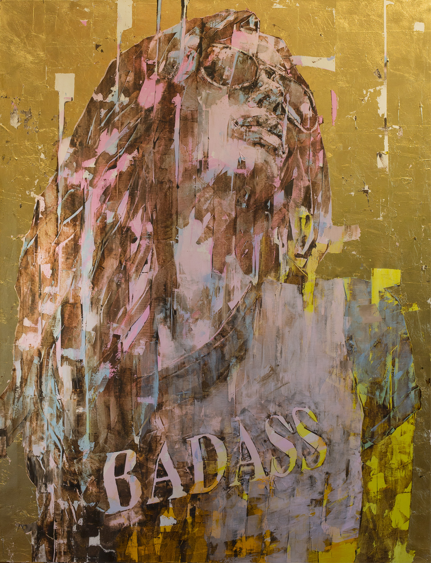 """Super Gold Badass"" 55x73"