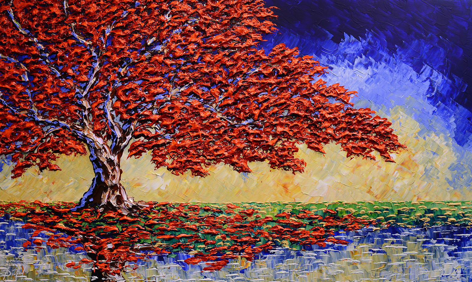 -Delightful Maple of Lasting Colors 36x60