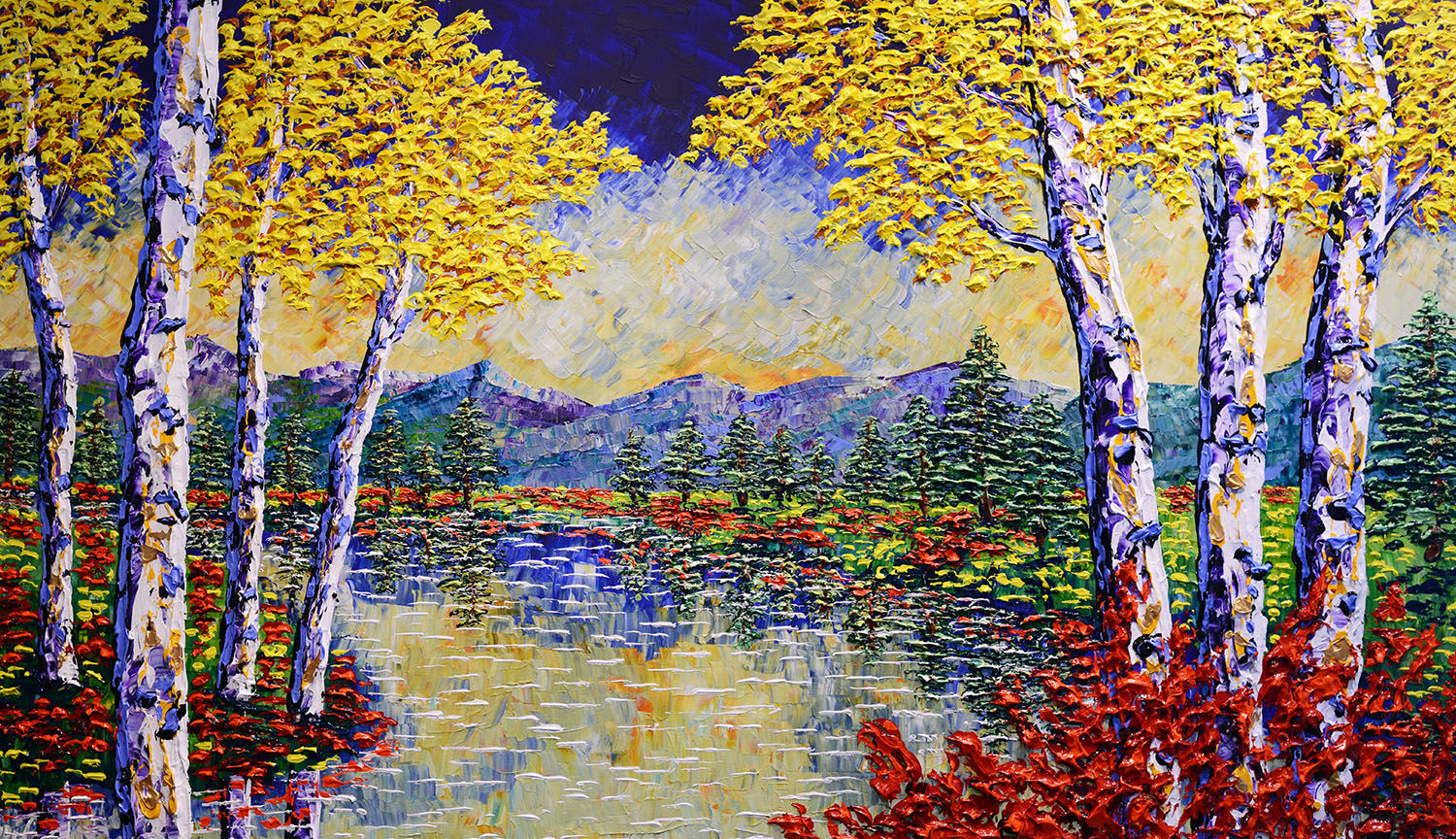 Bright Forest of Colorful Nature 42x72