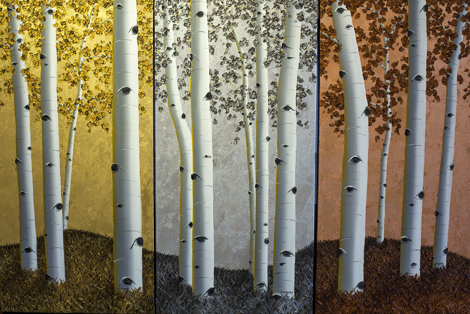 Tres Passions -Triptych - 45x30