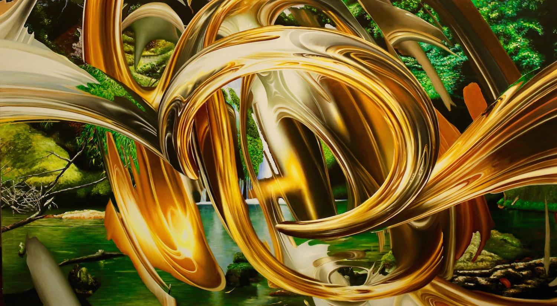 Spiral Falls 72x40